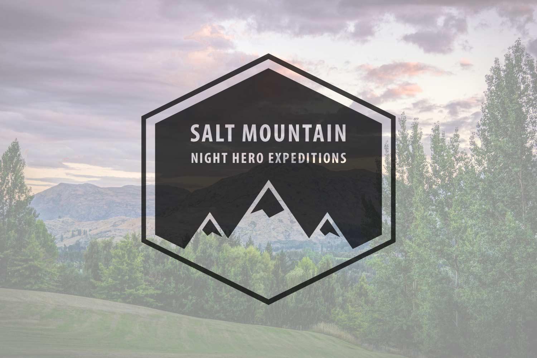 Salt mountain logo: dark version